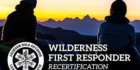 Wilderness First Responder Recertification tickets