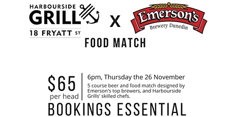 Harbourside Grill & Emerson's Brewery: Beer and Food Match tickets