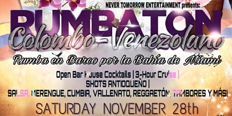 RUMBA EN BARCO POR LA BAHIA DE MIAMI THANKSGIVING 2020 con BAR ABIERTO! tickets
