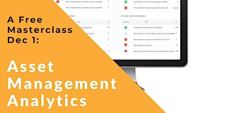 Asset Management Analytics - A Masterclass tickets