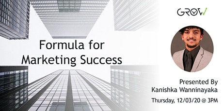 Formula for Marketing Success tickets