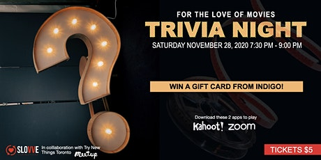 TRIVIA NIGHT : For the Love of Movies tickets