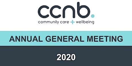 CCNB AGM Online Zoom Registration tickets