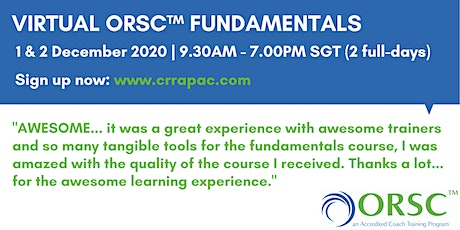 Virtual ORSC™ Fundamentals tickets