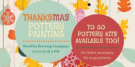 Thanksmas Pottery Painting at WestFax Brewing Company tickets