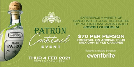 Patrón Cocktail Event @ The QA Hotel tickets