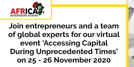 Entrepreneurs Network Virtual Series: Accessing Capital for SME's tickets