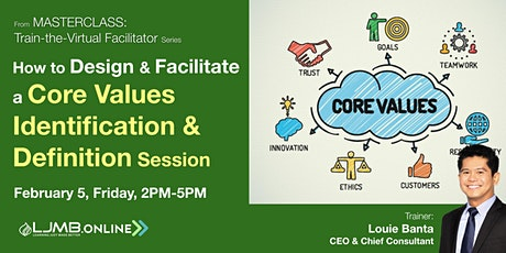 Design & Facilitate a Core Values Identification & Definition Session Tickets