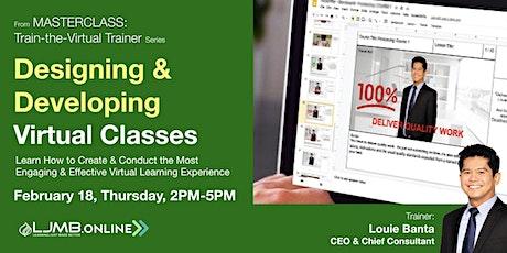 Designing & Developing Virtual Classes (2nd Run) tickets
