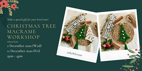 A Warm Christmas Tree Wall Hanging Macrame Workshop