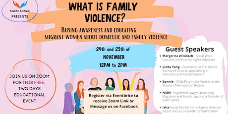 What is Family Violence? tickets