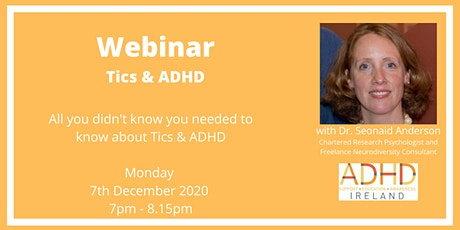 Webinar:  TICS & ADHD tickets