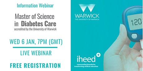 MSc Diabetes: University of Warwick - Info Webinar - IE/UK Jan 2021 tickets