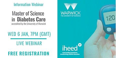 MSc Diabetes: University of Warwick - Info Webinar - IE/UK Jan 2021 tickets
