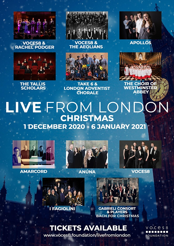 'Live From London' - Christmas Concert Tickets image
