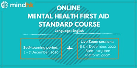 Online Mental Health First Aid Standard Course (8&9DEC) tickets