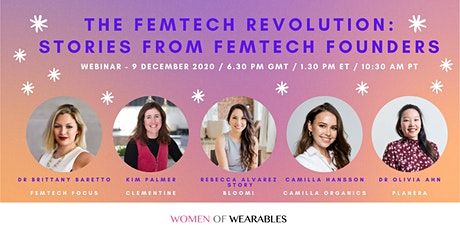 WEBINAR - The FemTech Revolution: Stories from FemTech Founders tickets