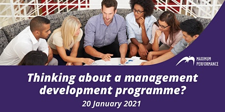 Thinking about a management development programme? (20 January 2021) tickets