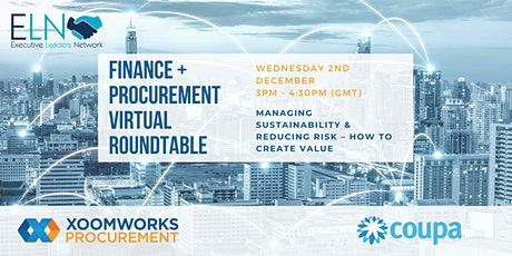 Virtual Roundtable: Managing Sustainability & Reducing Risk tickets