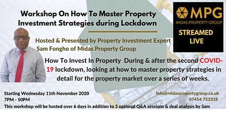 Workshop On How To Master Property Investment Strategies during Lockdown tickets