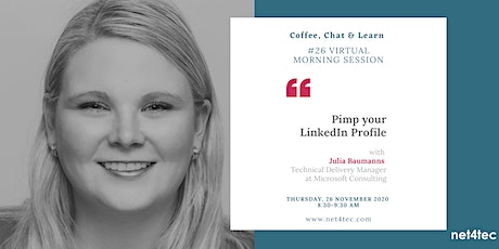 Virtual morning session: Pimp your LinkedIN Profile tickets