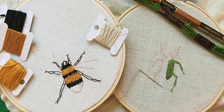 Beetle and Bee Embroidery Evening tickets