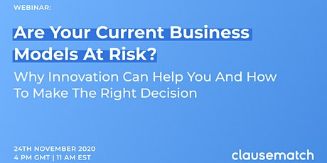 Are your current business models at risk? Why innovation will help you and tickets