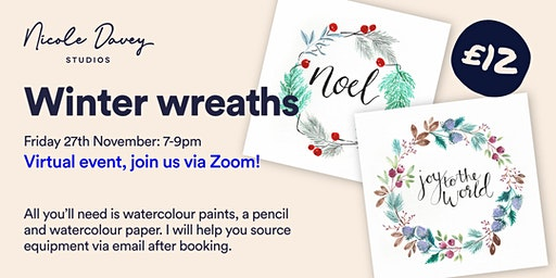 Winter Wreaths: A Watercolour Workshop