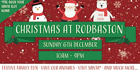 Meet Santa at Rodbaston Animal Zone tickets