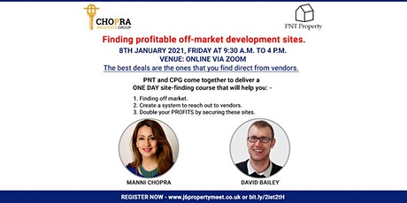 Finding off-market profitable development deals.