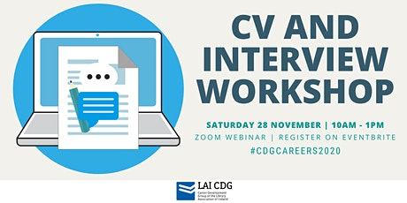 CV & Interview Workshop | LAI Career Development Group tickets