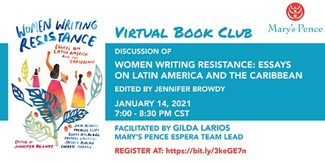 """Mary's Pence Book Club: """"Women Writing Resistance"""" tickets"""