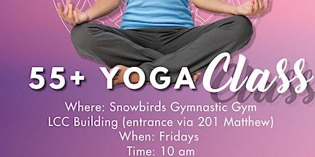 55+ Yoga Class tickets