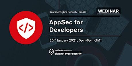 AppSec for Developers - Webinar tickets