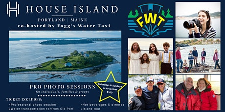 Pro Photo Sessions at House Island, co-hosted by Fogg's Water Taxi tickets