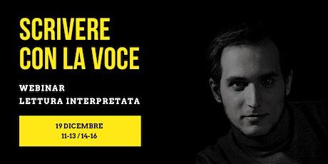 Scrivere con la voce • Tiziano Bertrand biglietti