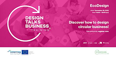 Design talks Business Training   EcoDesign tickets