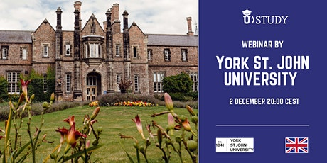 Free webinar York St. John University - UK tickets