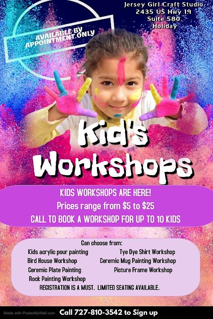 Kids Art & Craft Workshops- Bird House Painting image