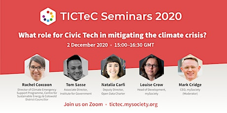 What role for Civic Tech (and data) in mitigating the climate crisis? tickets