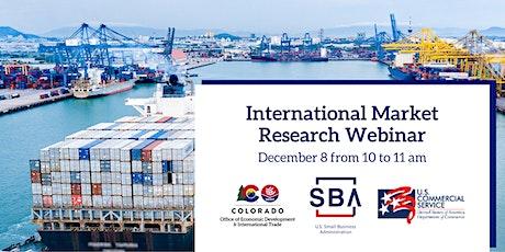 International Market Research Webinar for Colorado Exporters tickets