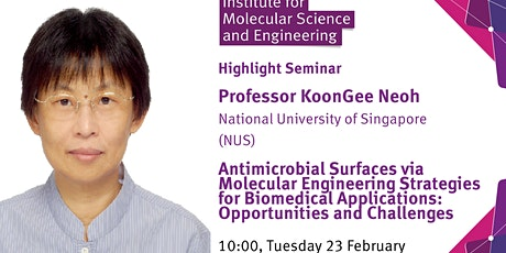 Antimicrobial Surfaces  for Biomedical Application tickets