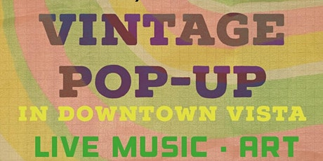 Pop - up shop with local vendors and live music tickets