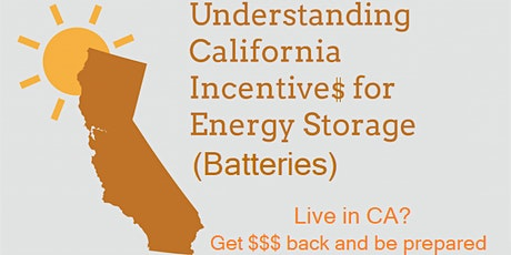 California's Self-Generation Incentive Program for Batteries tickets