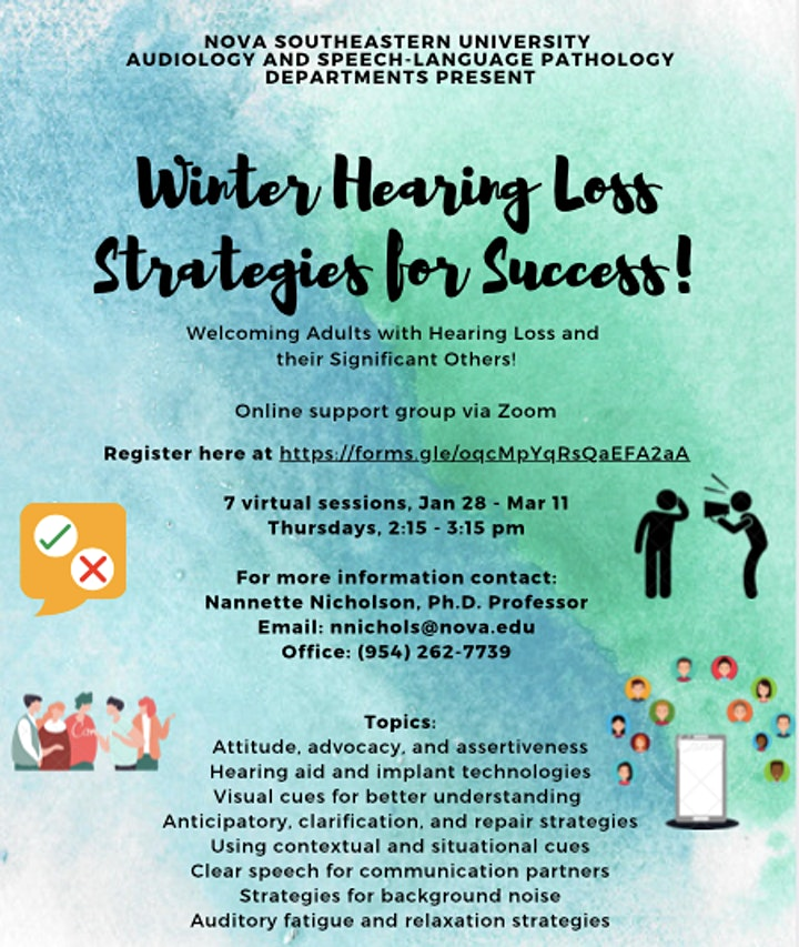 Winter Hearing Loss Strategies For Success Online Support Group image