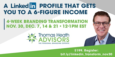 A LINKEDin PROFILE THAT GETS YOU to a 6-FIGURE INCOME tickets