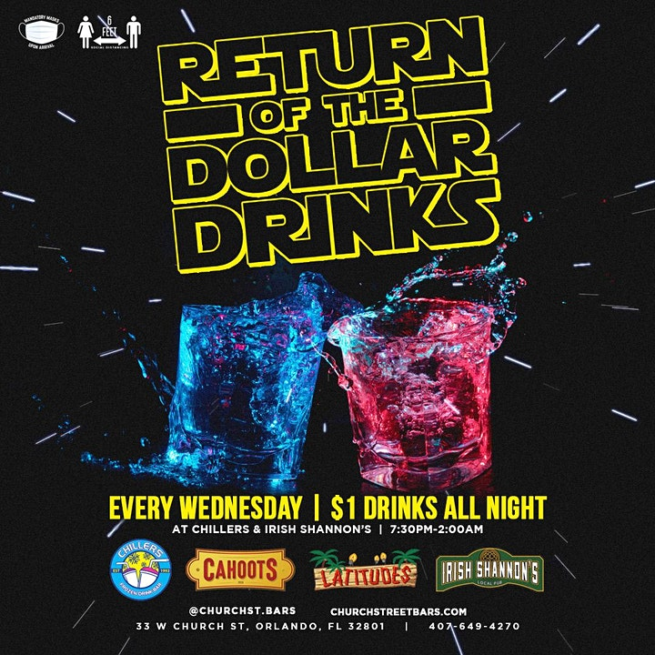 Dollar Drink Night Every Wednesday | FREE Cover RSVP image