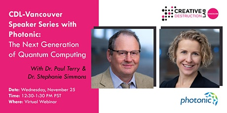 Speaker Series with Photonic: The Next Generation of Quantum Computing tickets