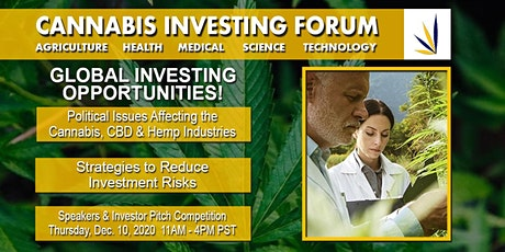 Cannabis Investing Forum Virtual Webinar tickets