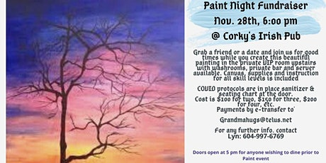 """Winter Tree"" Fundraising Paint Night @ Corky's  Irish Pub tickets"
